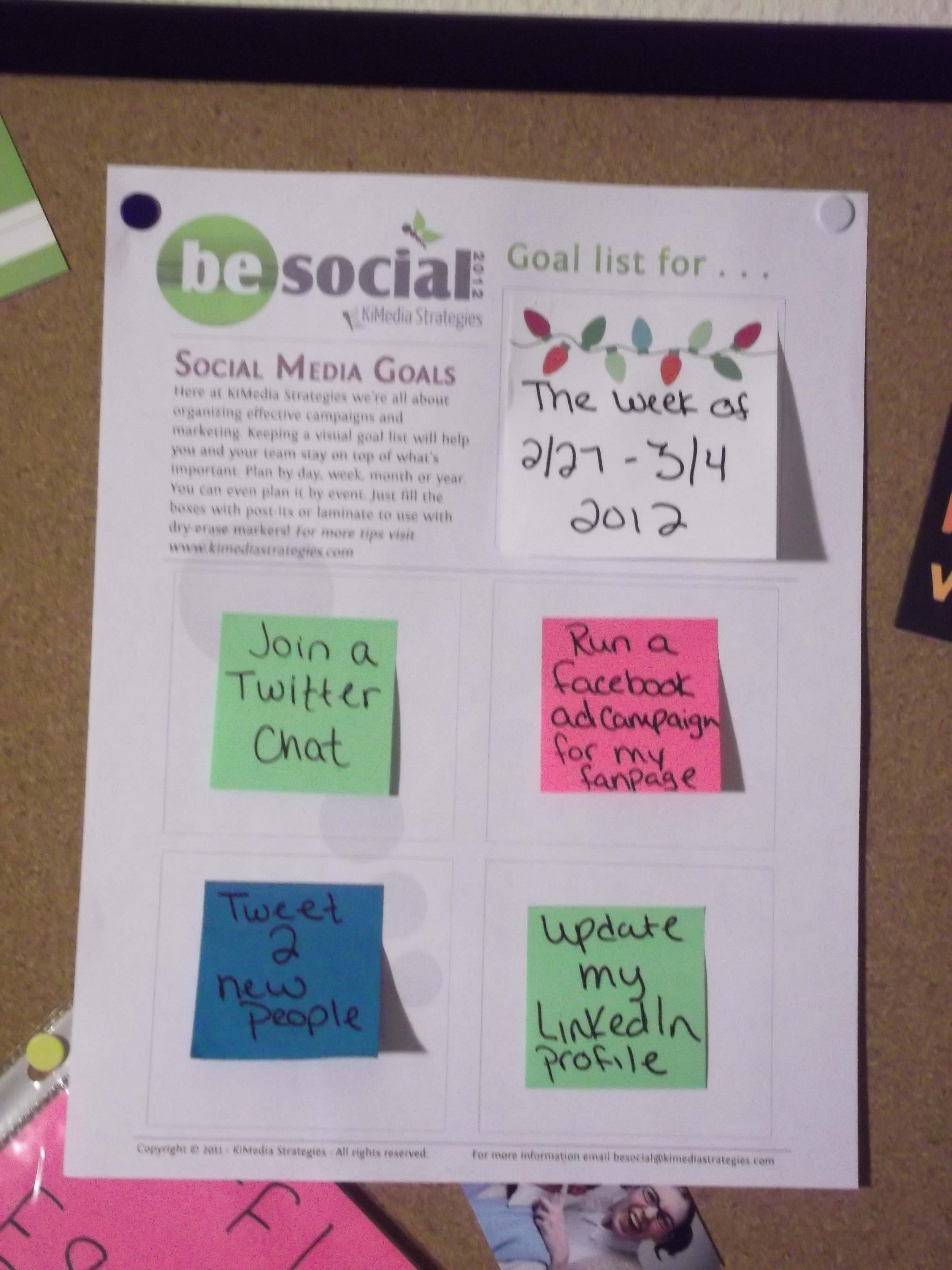 Free social media goals