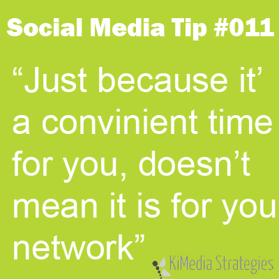 Know When It's Convenient For Your Network