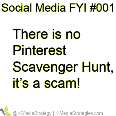 There Is No Pinterest Scavenger Hunt, It's a Scam