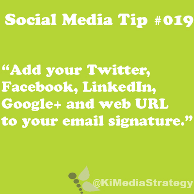 Your Email Signature Can Be Social Too!