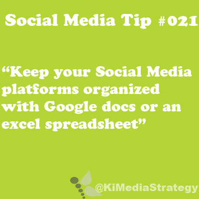 Keep Your Social Media Organized